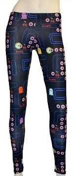 Cherry Skull Pac-Man Leggings