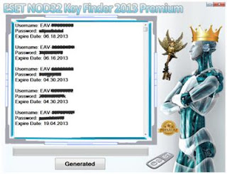 ESET NOD32 Key Finder Premium Username and Password