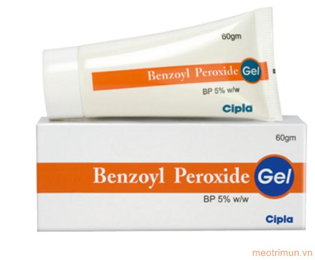 Thành phần Benzoyl Peroxide trị mụn dưới da