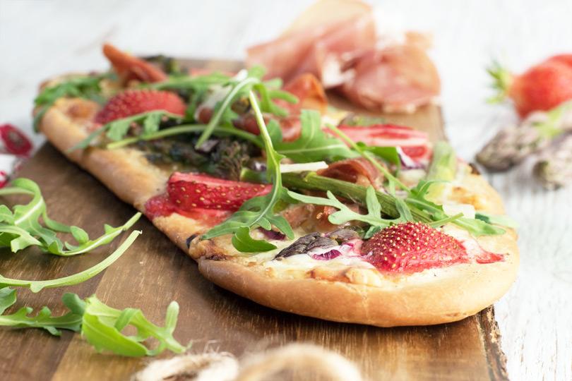 recette pizza asperge jambon parme