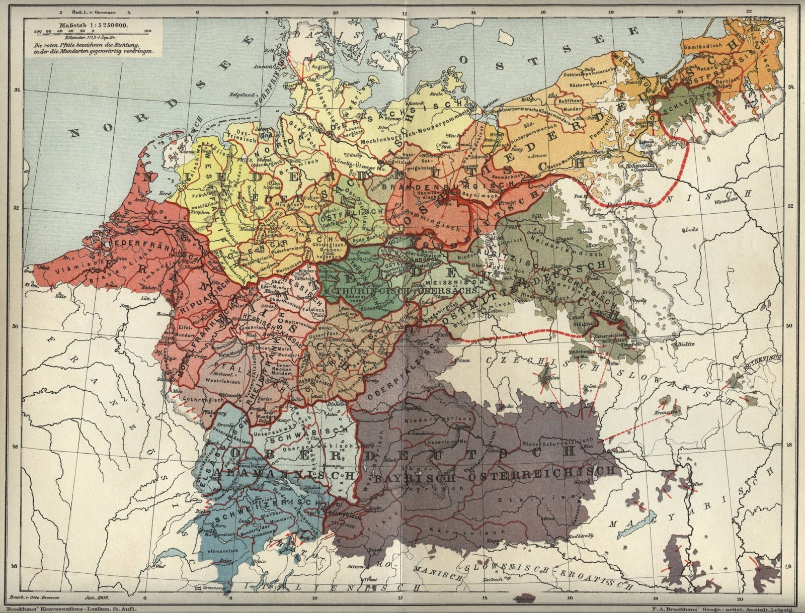 Dialects of the German Language (1894)