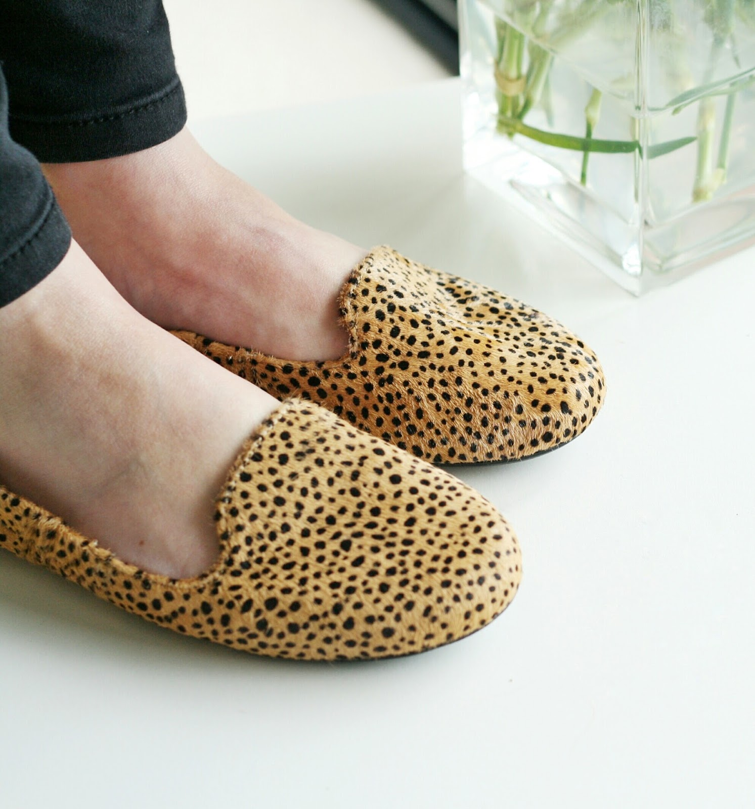 Tan Dalmation Pony Hair butterfly twist shoes Blog Review image