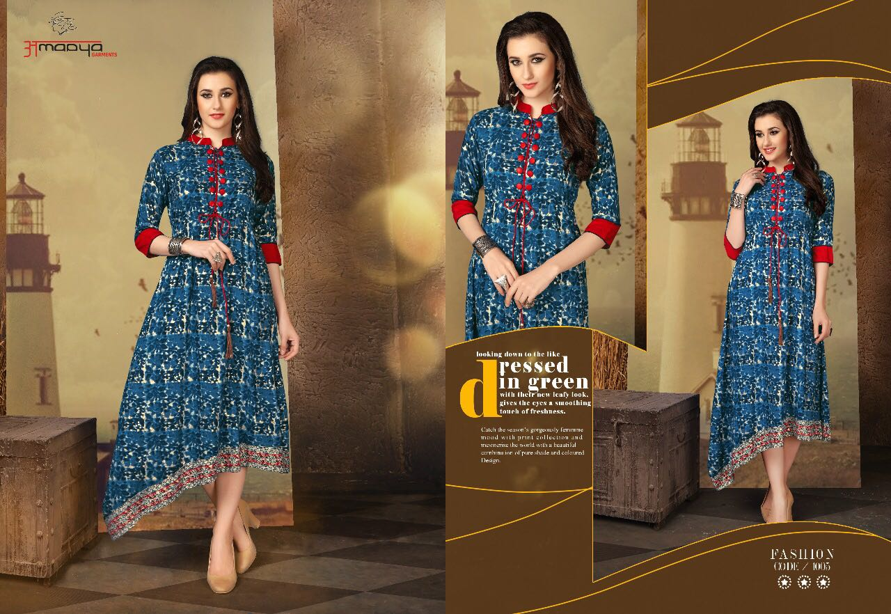 WARDROBE VOL 2- New Arrival Designer Rayon Cotton Kurti