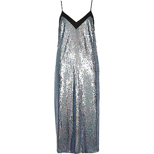 silver sequin slip dress, sequin slip dress, sequin cami dress,