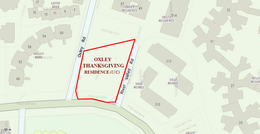 Oxley Thanksgiving Residence Location Map