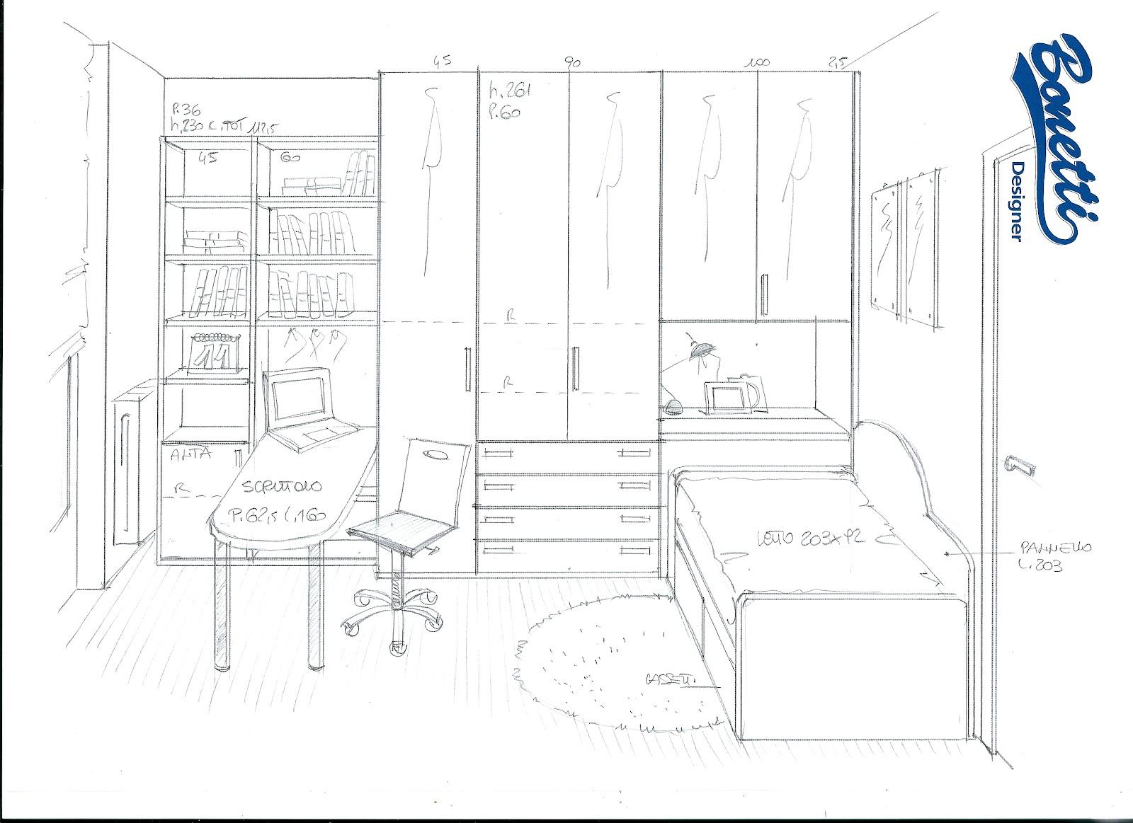Bonetti camerette bonetti bedrooms progetto cameretta piccola for Progettare la cameretta