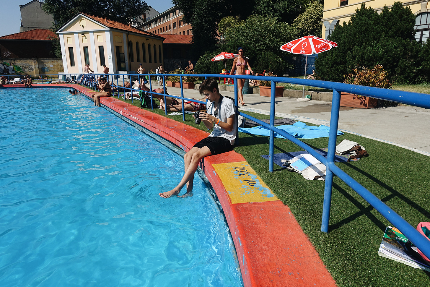 Public pools in Milan