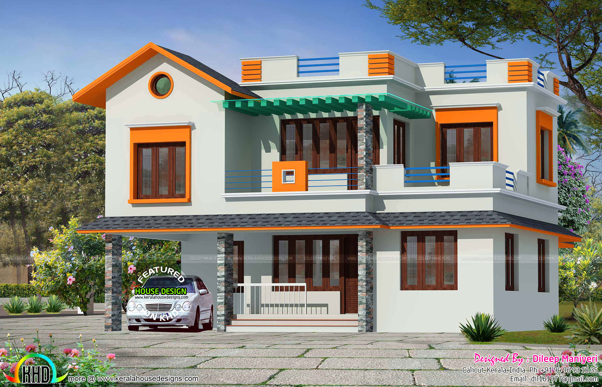 4 Bedroom Mixed Roof Home Part - 23: No. Of Bedrooms : 4. Design Style : Mixed Roof. Facility Details. Read More  » Please Follow Kerala Home Design