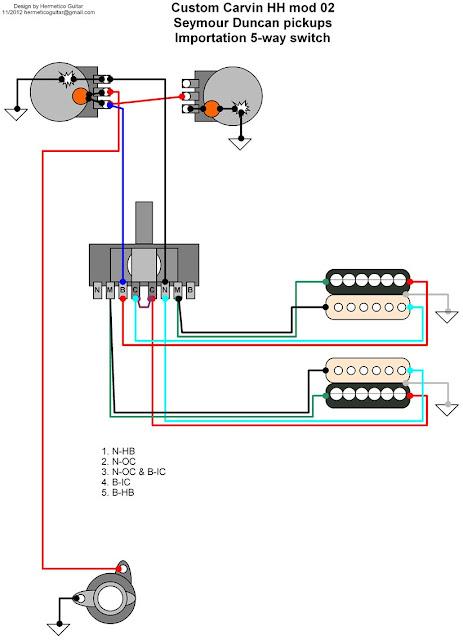 Charvel Guitar Wiring Diagrams Hermetico Guitar Wiring Diagram Custom Carvin Mods 02 And 03