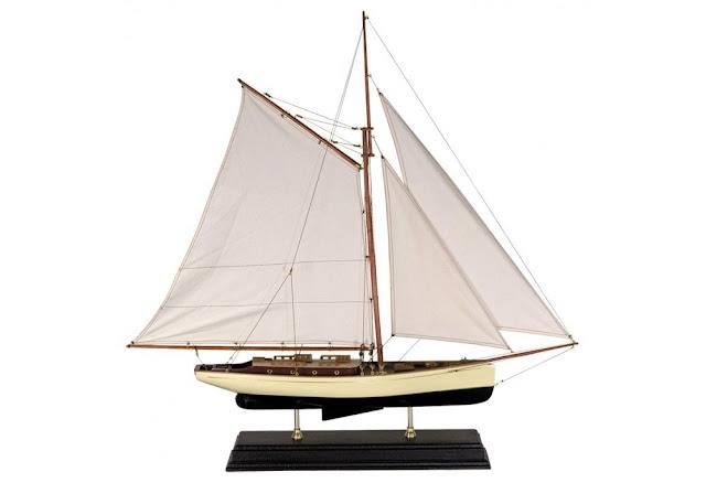 1930's Classic Design Yacht Model Decor