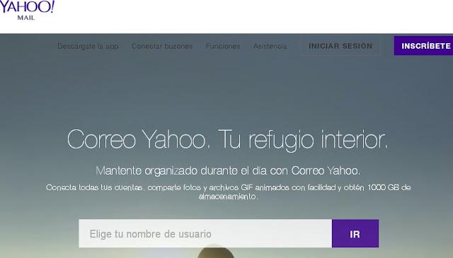 Inscríbete en Yahoo!