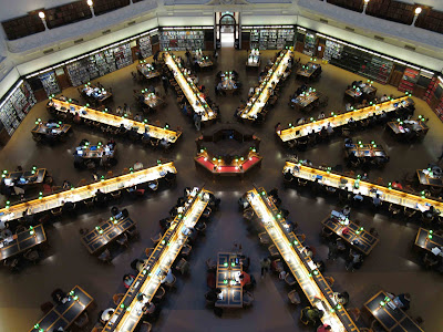 Queen's Reading Room. State Library of Victoria en Melbourne