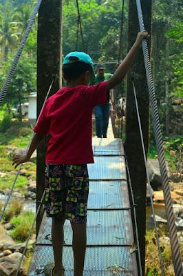 Georgiyar hanging bridge, Mankulam