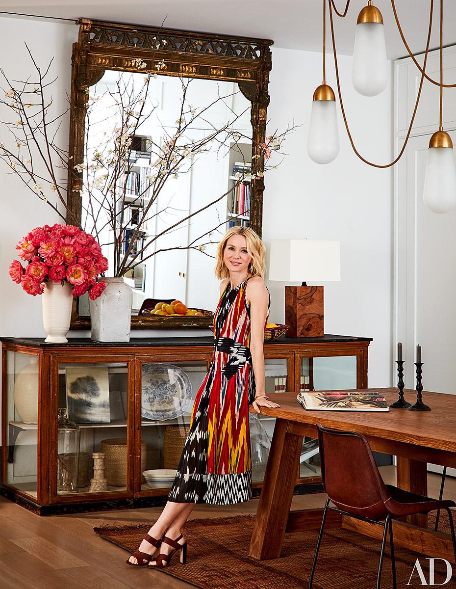 Vintage y decoración de la buena en casa de Naomi Watts