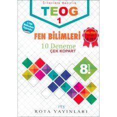 Rota Yayınları 8.Sınıf TEOG 1 Fen Bilimleri 10 Deneme (2017)