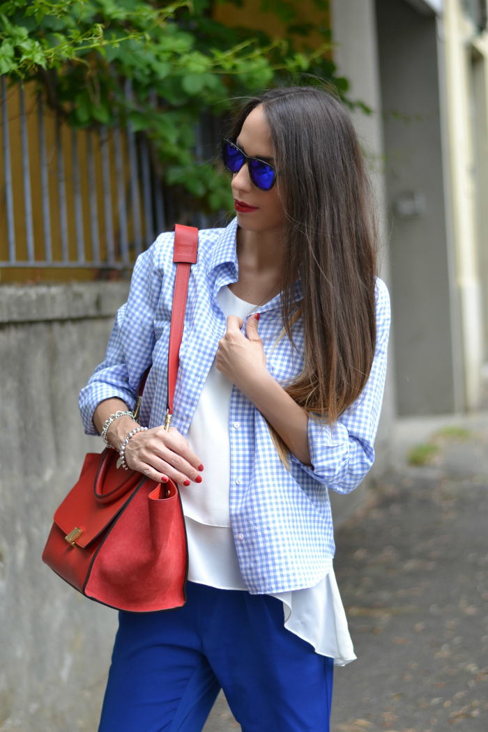 outfit celine rossa