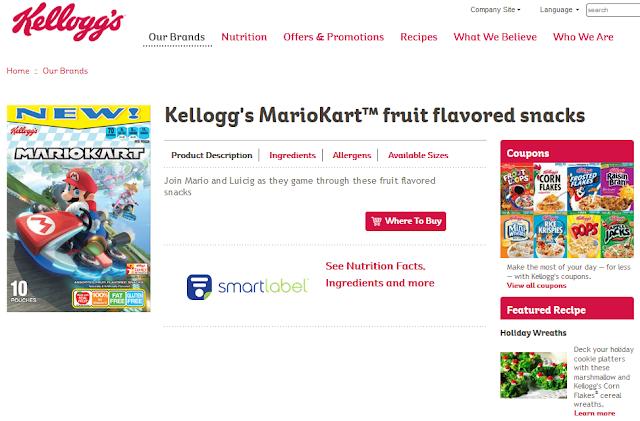 Kellogg's Mario Kart fruit flavored snacks 8 Luigi Luicig