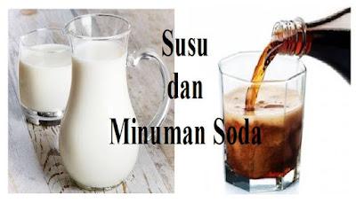 Reaksi kimia susu dan soda akan membentuk kalsium karbonat (CaCO3) dalam tubuh anda, yang akan membuat endapan tak larut pada ginjal sehingga membuat batu ginjal secara perlahan-lahan.