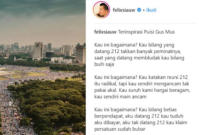 "IG Felix Siauw ""Bajak"" Puisi Gus Mus, Ini Curhatan Ning Ienas"