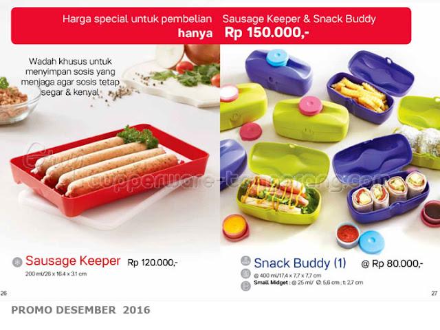 Paket Sausage Keeper & Snack Buddy Promo Tupperware Desember 2016