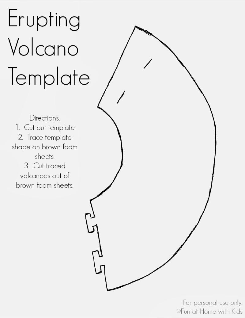 Erupting Volcano Dinosaur Valentine or Party Favor (Free