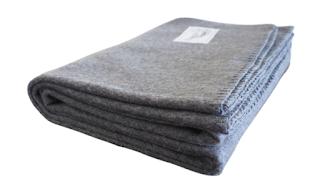 Rugged Gray Wool Blanket