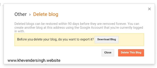 How to permanently delete blogspot's website and domain
