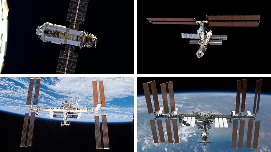 Image Above Clockwise From Top Left The First Station Module Zarya Russia Is Pictured December 1998 Space Shuttle Endeavour