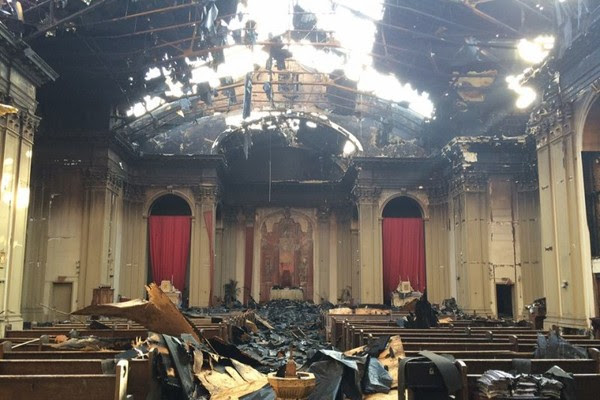 Devastating Fire at Shrine of Christ the King Sovereign Priest