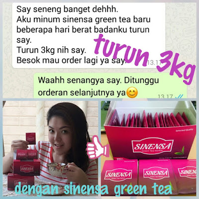 Testimoni Sinensa Green Tea Herbal Original