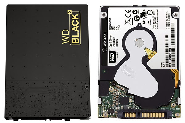 Thus, it has launched the Black ², a storage device 2.5-inch (9.5 mm) two-in-one that includes both a 120GB SSD and a 1TB HDD, the all with a single connector and s-ATA 6Gb / s. By default, only the first part will be accessed and used, which allows for example to easily install or clone an operating system. Then it will download and add the WD Black ² software to activate the second part of the device and take advantage of one additional TB. Note that it is currently only available for Windows XP 8.1.