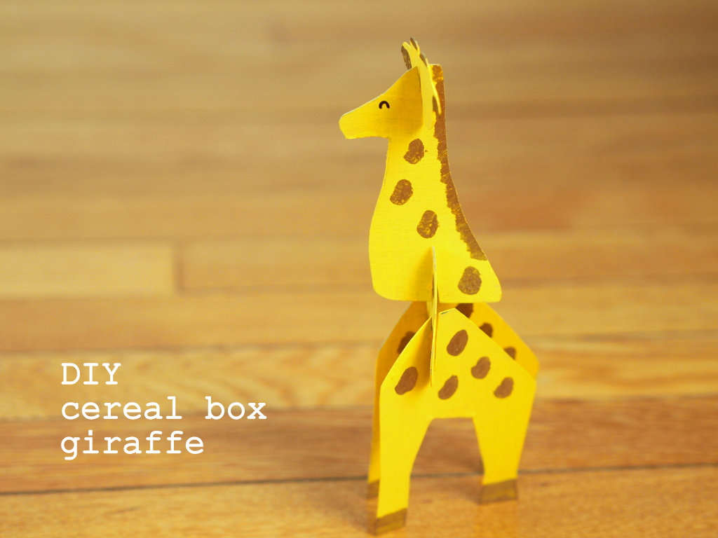 Ty Cardboard Cereal Box Giraffe