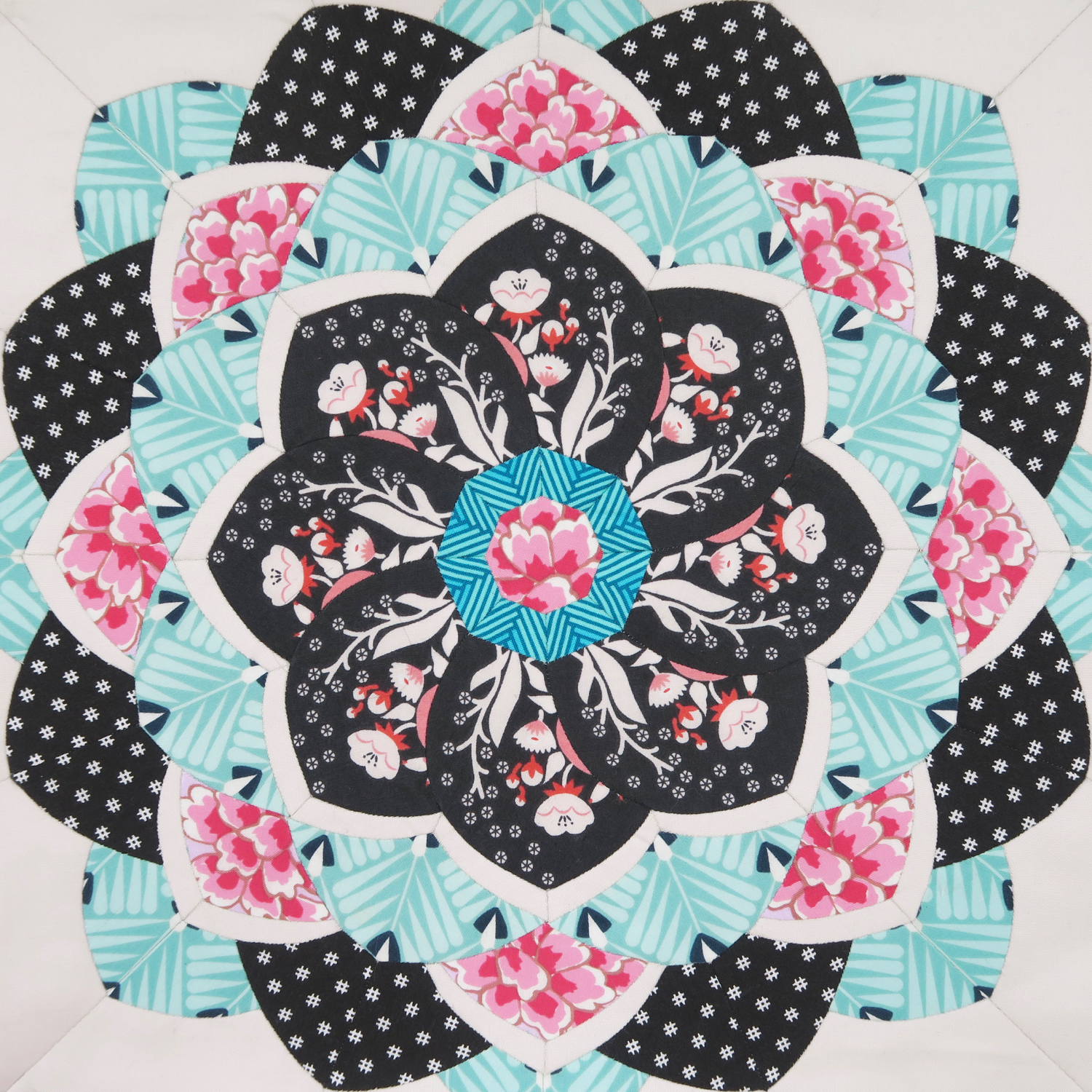 Peony English Paper Piecing Pattern