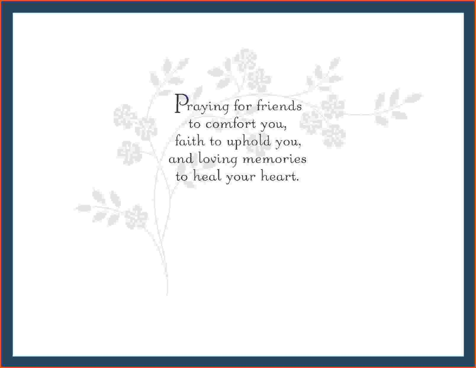 condolence card sample