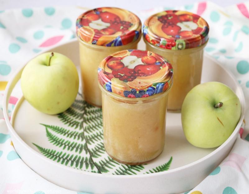 mus z jabłek, mus z papierówek, przetwory z jabłek