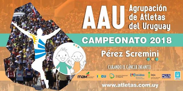 Campeonato 2018 de 10k y 5k de la Agrupación de atletas del Uruguay (AAU) - Calendario de carreras