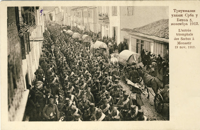 Serbian army enters Bitola 18.11.1912 -  First Balkan War