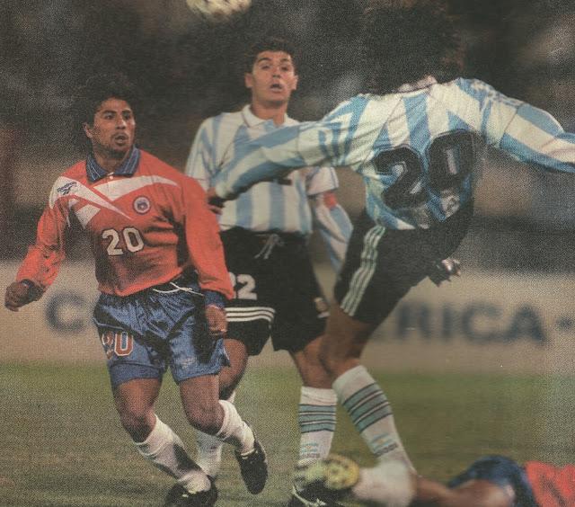 Argentina y Chile en Copa América 1997, 14 de junio