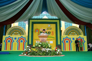 42 contoh desain dekorasi panggung pengajian - model