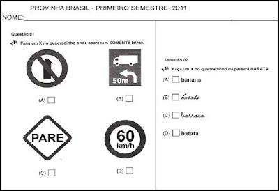 Provinha Brasil de 2011