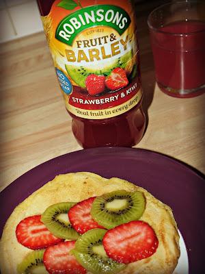 Robinsons Fruit and Barley Strawberry and Kiwi inspired pancake