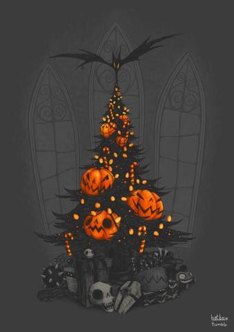 Halloween And Christmas.Cute And Funny Pictures And More Jack O Lantern Halloween Tree