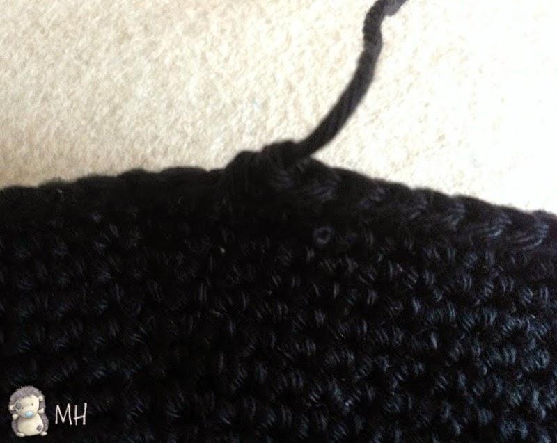 Remate sombrero a crochet