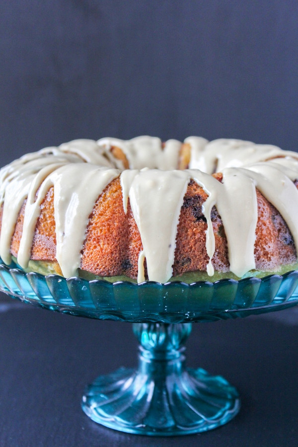 If you're looking for an over the top breakfast treat or dessert, then you've come to the right place! This Chocolate Chip Coffee Cake with Coffee Cream Cheese Glaze is decadent and delicious and equally as beautiful.