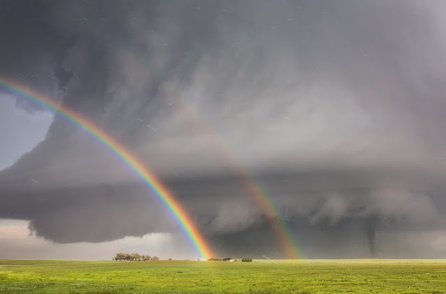 Double rainbow, Supercell and Tornado in Colorado