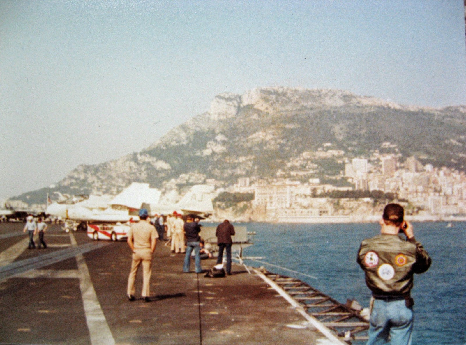 Took this from the Nimitz flight deck off the coast of Monaco 1983