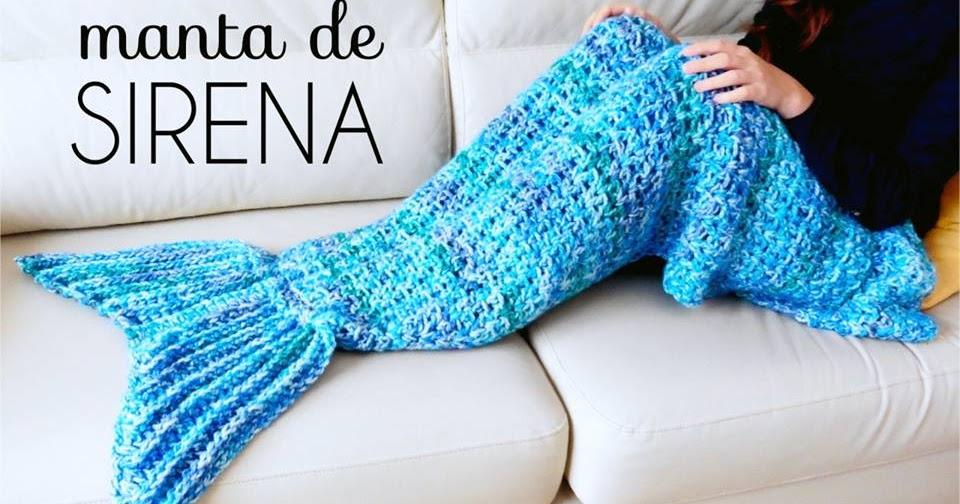 Reciclando con erika manta o poncho de cola de sirena a - Como hacer una manta de lana para el sofa ...