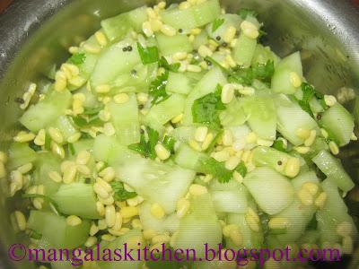 Healthy Cucumber Salad - Cucumber Kosambari - Low Calorie Salad Recipe - Diabetic Recipe