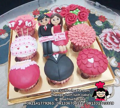 Cupcake Tunangan Hantaran Nikah