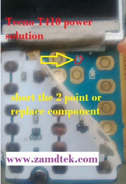 Tecno China phones power solution eg Tecno T410